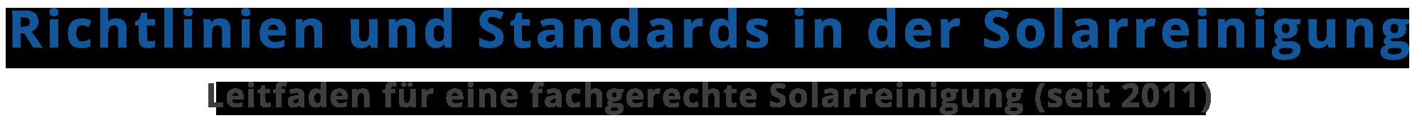Solarreinigung Richtlinien Logo